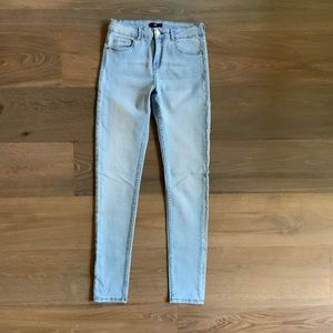H&M Basic Light Wash Blue Skinny High Rise Jeans 4